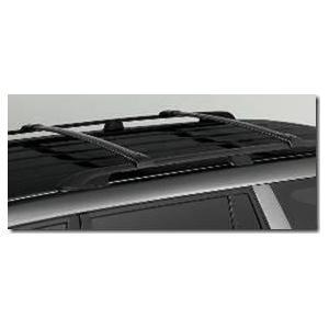 Barras De Techo Transversales Para Vehículos Con Barra Longitudinal. Agarre De Adentro. Aluminio Negro. Honda Pilot 2003-2008