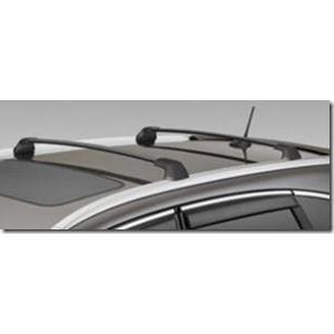 Barras De Techo Transversales Aluminio Negro Para Vehículos Con Guía Lateral Honda Cr-V 2012
